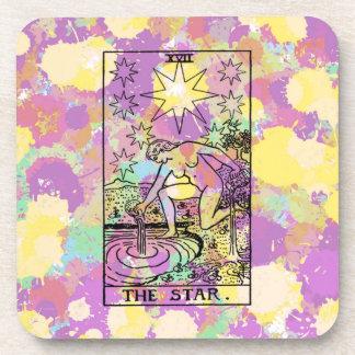 La carta de tarot de la estrella posavasos