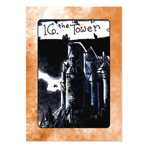 La carta de tarot de la torre tarjetas de visita grandes