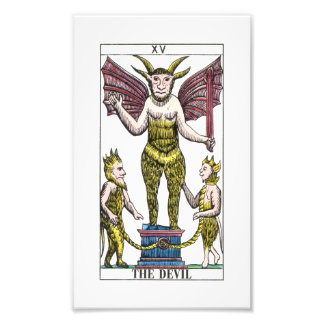 La carta de tarot del diablo cojinete