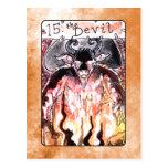 La carta de tarot del diablo postal