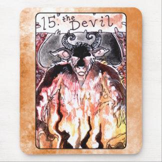 La carta de tarot del diablo tapete de ratones