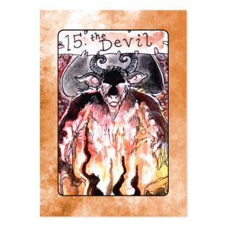 La carta de tarot del diablo tarjetas de visita grandes