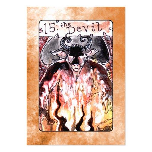 La carta de tarot del diablo plantilla de tarjeta de negocio