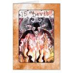La carta de tarot del diablo tarjeton