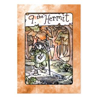 La carta de tarot del ermitaño tarjetas de visita grandes