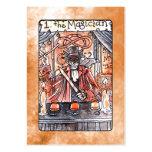 La carta de tarot del mago tarjetas de visita grandes