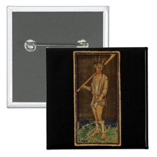 La carta de tarot del tonto pins