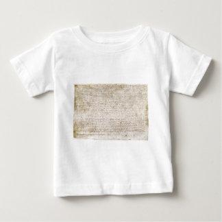 La Carta Magna de la carta 1215 de libertades Playera De Bebé