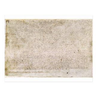 La Carta Magna de la carta 1215 de libertades Tarjeta Postal