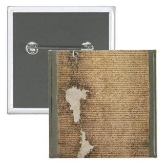 La Carta Magna de libertades, tercera versión Pin Cuadrada 5 Cm