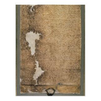 La Carta Magna de libertades, tercera versión Postales