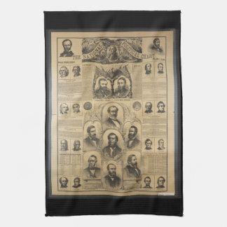 La carta política nacional (1869) toalla de mano