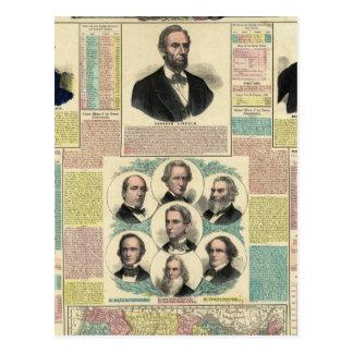 La carta política nacional tarjetas postales