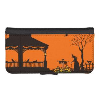 La cartera del iphone de Halloween/el caso, bruja, Fundas Tipo Billetera Para iPhone 5