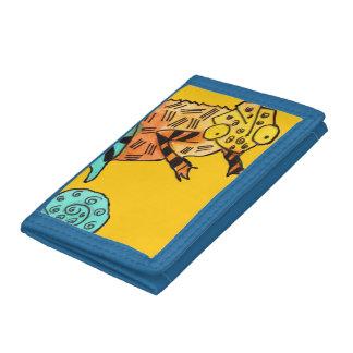 La cartera del niño del amarillo de la tinta del c