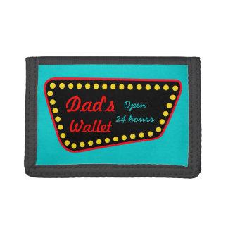 La cartera del papá de la muestra del vintage