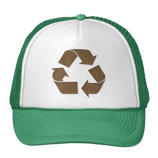 La cartulina recicla el gorra del símbolo