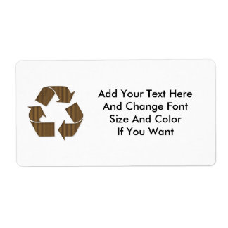 La cartulina recicla la plantilla de la etiqueta d etiquetas de envío