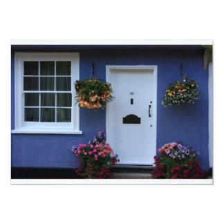 """La casa azul, azafrán Walden, Essex, Reino Unido Invitación 5"""" X 7"""""""