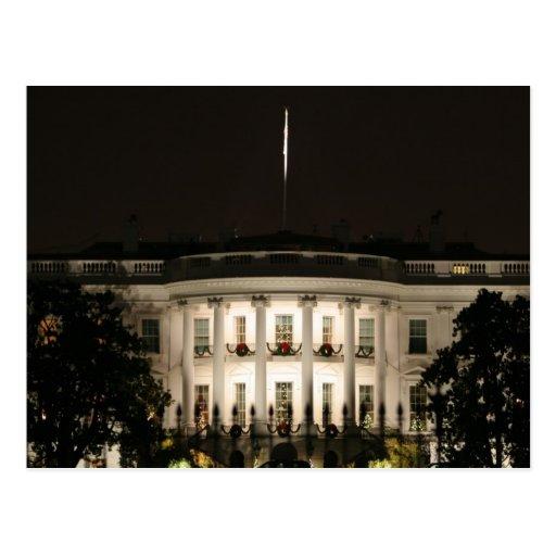 La Casa Blanca celebra navidad Tarjeta Postal