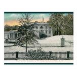 La Casa Blanca en el invierno, vintage del Washing Tarjeta Postal