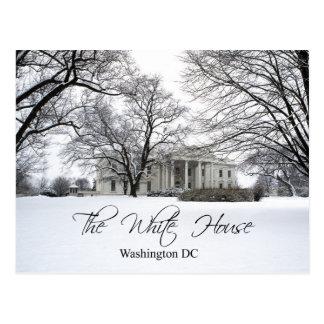La Casa Blanca en un día nevoso, Washington DC Tarjetas Postales