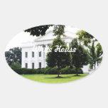 La Casa Blanca Pegatina Ovalada