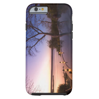 La casa de campo del club del río, puesta del sol funda de iPhone 6 tough
