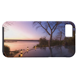 La casa de campo del club del río, puesta del sol funda para iPhone 5 tough