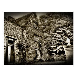 La casa de campo vieja (postal de B&W) Tarjeta Postal
