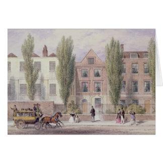 La casa de Fisher, una calle más baja, Islington,  Tarjeta De Felicitación