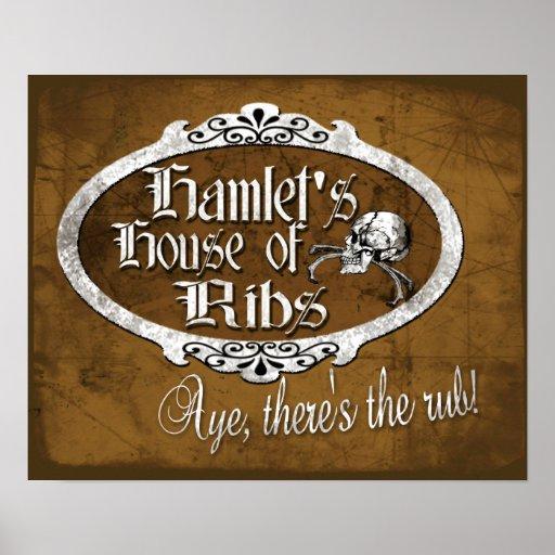 La casa de Hamlet de costillas Poster