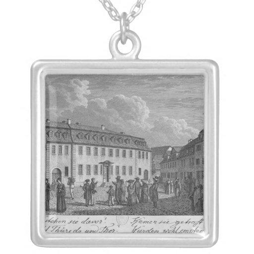 La casa de Johan Wolfgang von Goethe adentro Colgante Cuadrado