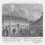 La casa de Johan Wolfgang von Goethe adentro Pegatina Cuadrada