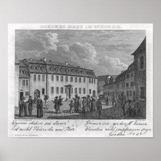La casa de Johan Wolfgang von Goethe adentro Póster