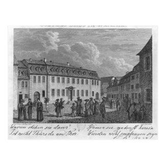 La casa de Johan Wolfgang von Goethe adentro Postal