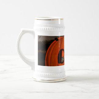 La casa de la calabaza jarra de cerveza