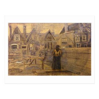 La casa de la madre de Sien, bella arte de Van Tarjetas Postales