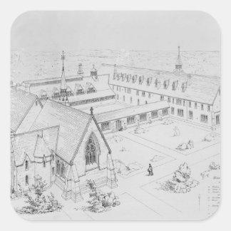 La casa de la misericordia, Clewer Pegatina Cuadrada