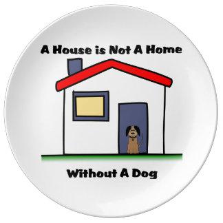 La casa de los amantes del perro no es una placa platos de cerámica