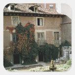 La casa de Miguel Cervantes Pegatina Cuadrada