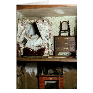 La casa de muñeca inglesa tarjeta de felicitación