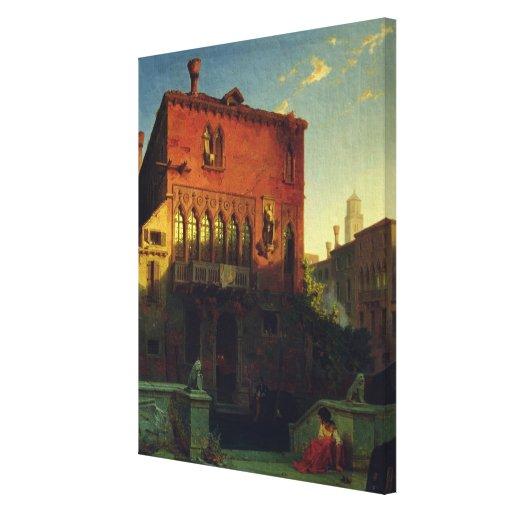 La casa de Othello, Moore en Venecia, 1856 Lona Envuelta Para Galerías