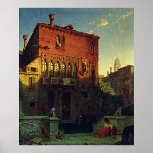 La casa de Othello, Moore en Venecia, 1856 Poster