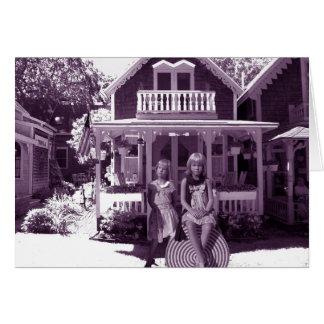 La casa de pan de jengibre tarjeta de felicitación