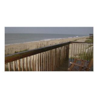 La casa de playa tarjetas fotográficas