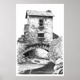 La casa de puente, Ambleside Posters