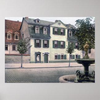 La casa de Schiller Poster