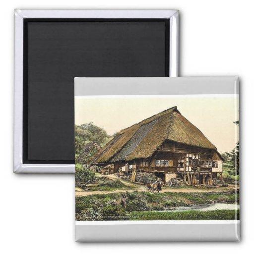 La casa de un campesino, bosque negro, Baden, ra d Imanes De Nevera