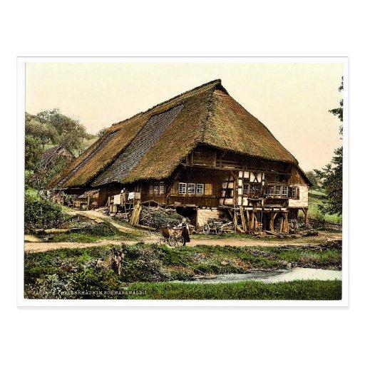 La casa de un campesino, bosque negro, Baden, ra d Tarjetas Postales